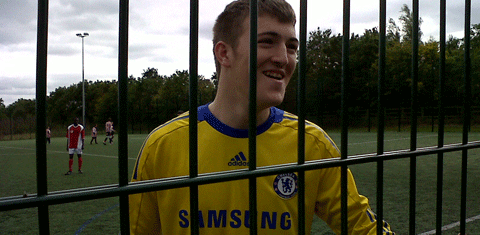 St Piers student at Chelsea FC training ground